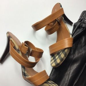 BURBERRY Ankle Strap Heels